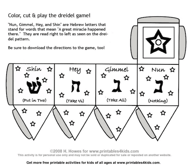 graphic about How to Play the Dreidel Game Printable referred to as What is a Dreidel? How in direction of Crank out and Perform with this